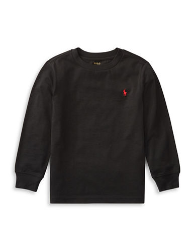 Ralph Lauren Childrenswear Long-Sleeve Cotton Jersey T-Shirt-BLACK-3T