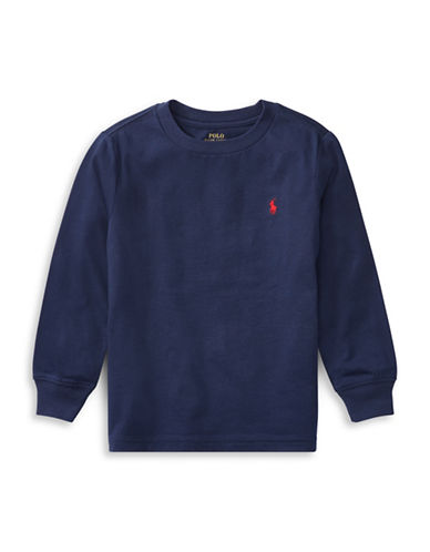 Ralph Lauren Childrenswear Long-Sleeve Cotton Jersey T-Shirt-BLUE-4T