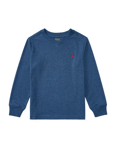 Ralph Lauren Childrenswear Knit Cotton Jersey T-Shirt-BLUE-3T