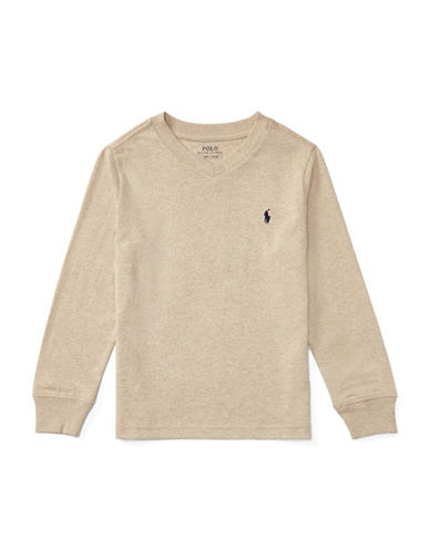 Ralph Lauren Childrenswear Knit Cotton Jersey T-Shirt-BEIGE-2T