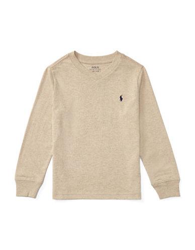 Ralph Lauren Childrenswear Knit Cotton Jersey T-Shirt-BEIGE-4T