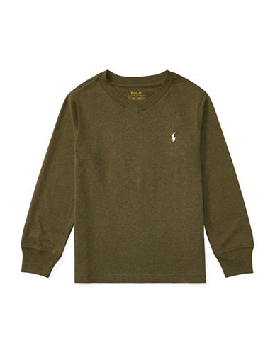 Ralph Lauren Childrenswear Knit Cotton Jersey T-Shirt-GREEN-3T