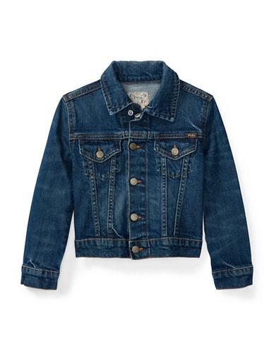 Ralph Lauren Childrenswear Stretch Denim Trucker Jacket-BLUE-3