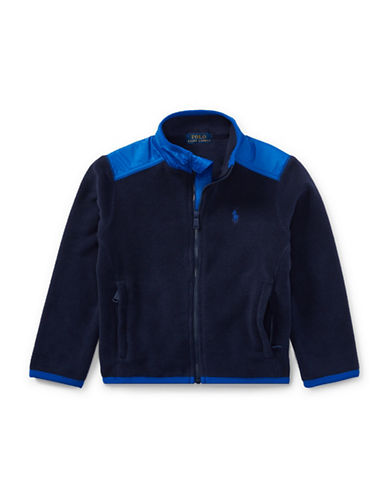 Ralph Lauren Childrenswear Fleece Hybrid Jacket-BLUE-3T