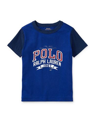 Ralph Lauren Childrenswear Cotton Jersey Graphic Cotton T-Shirt-BLUE-2
