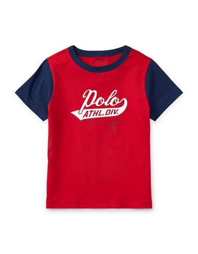 Ralph Lauren Childrenswear Cotton Jersey Graphic Cotton T-Shirt-RED-3