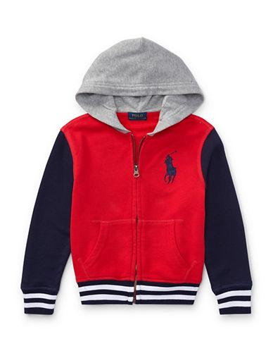 Ralph Lauren Childrenswear Hooded Cotton Zip Jacket-RED-2T 89615999_RED_2T