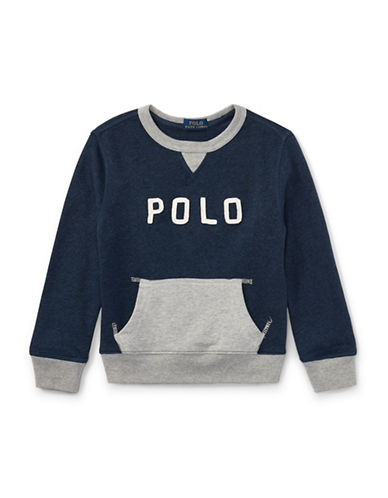 Ralph Lauren Childrenswear Cotton French Terry Sweatshirt-BLUE-2