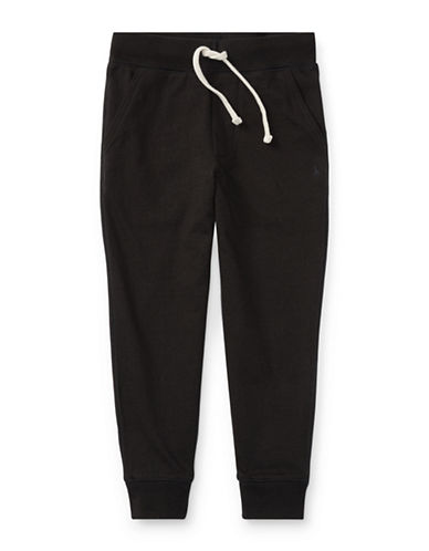Ralph Lauren Childrenswear Cotton Jersey Jogger Pants-BLACK-4