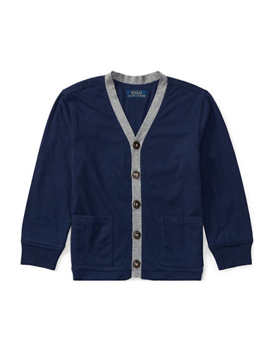 Ralph Lauren Childrenswear Quilted Jersey Shirt Jacket-BLUE-2