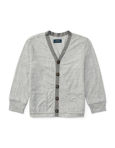 Ralph Lauren Childrenswear Quilted Jersey Shirt Jacket-LIGHT GREY-3