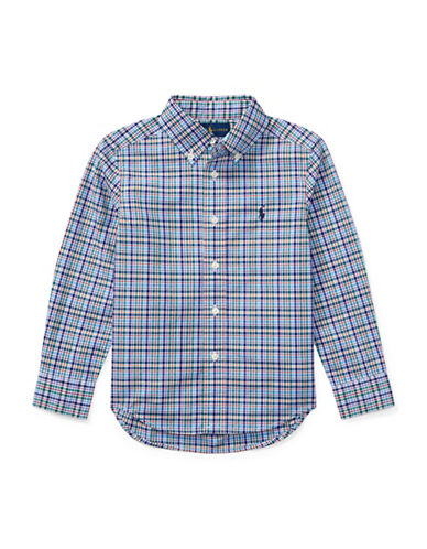 Ralph Lauren Childrenswear Plaid Cotton Poplin Shirt-BLUE-3
