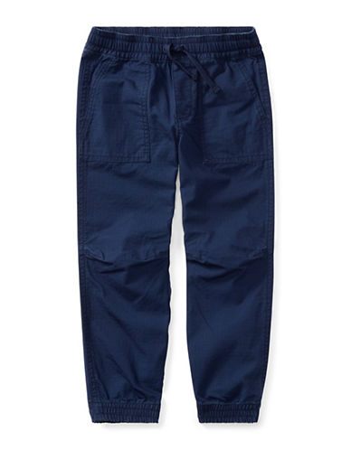 Ralph Lauren Childrenswear Cotton Ripstop Joggers-BLUE-3
