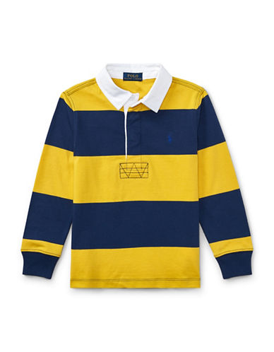 Ralph Lauren Childrenswear Striped Cotton Rugby Shirt-YELLOW-4