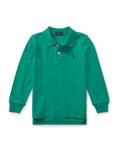 Ralph Lauren Childrenswear Long-Sleeve Cotton Mesh Polo-GREEN-7