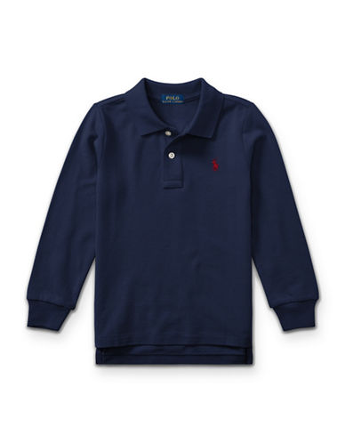 Ralph Lauren Childrenswear Long-Sleeve Cotton Mesh Polo-BLUE-6