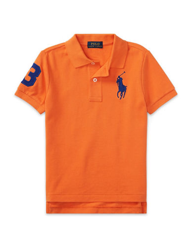 Ralph Lauren Childrenswear Cotton Mesh Polo-ORANGE-7