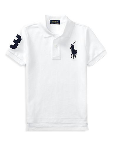 Ralph Lauren Childrenswear Cotton Mesh Polo-WHITE-5
