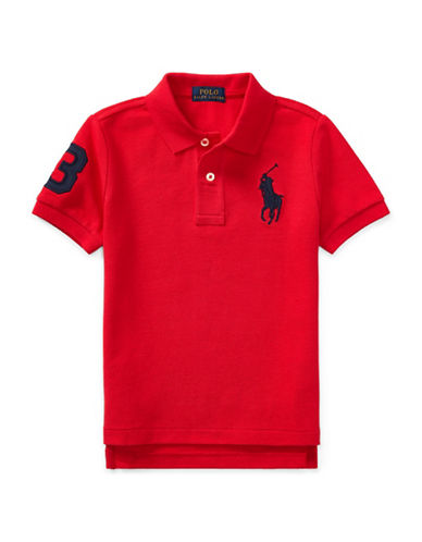 Ralph Lauren Childrenswear Cotton Mesh Polo-RED-5