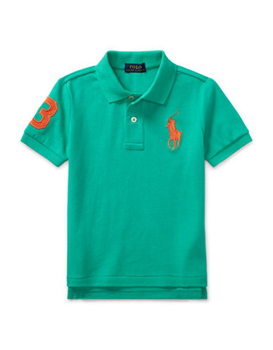 Ralph Lauren Childrenswear Cotton Mesh Polo-GREEN-7