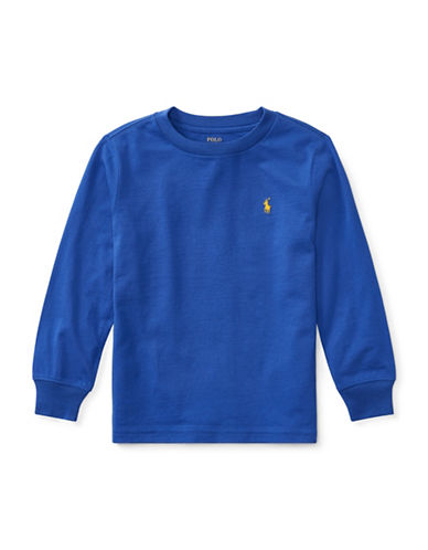 Ralph Lauren Childrenswear Long-Sleeve Cotton Jersey T-Shirt-BARCLAY BLUE-7