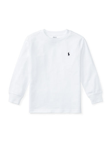 Ralph Lauren Childrenswear Long-Sleeve Cotton Jersey T-Shirt-WHITE-5