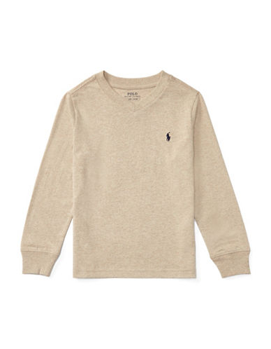 Ralph Lauren Childrenswear Knit Cotton Jersey T-Shirt-BEIGE-5