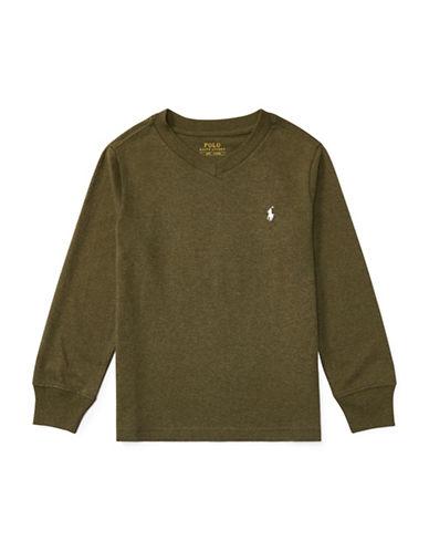 Ralph Lauren Childrenswear Knit Cotton Jersey T-Shirt-GREEN-7
