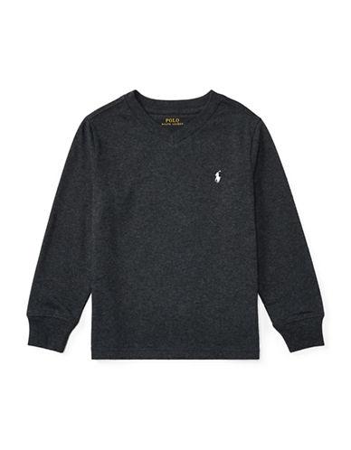 Ralph Lauren Childrenswear Knit Cotton Jersey T-Shirt-GREY-7 89475874_GREY_7