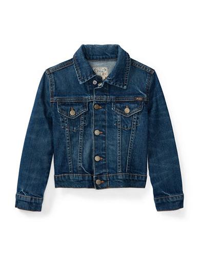 Ralph Lauren Childrenswear Stretch Denim Trucker Jacket-BLUE-5