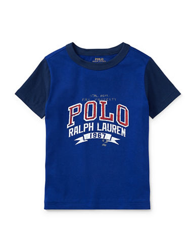 Ralph Lauren Childrenswear Cotton Jersey Ringer T-Shirt-BLUE-5