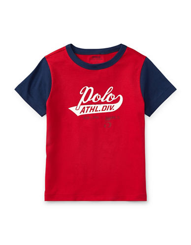 Ralph Lauren Childrenswear Cotton Jersey Ringer T-Shirt-RED-5