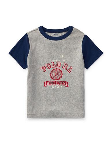 Ralph Lauren Childrenswear Cotton Jersey Ringer T-Shirt-GREY-5