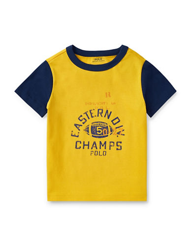 Ralph Lauren Childrenswear Cotton Jersey Ringer T-Shirt-YELLOW-6