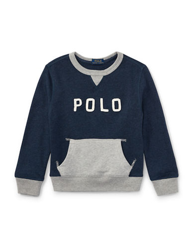 Ralph Lauren Childrenswear Cotton French Terry Sweatshirt-BLUE-5