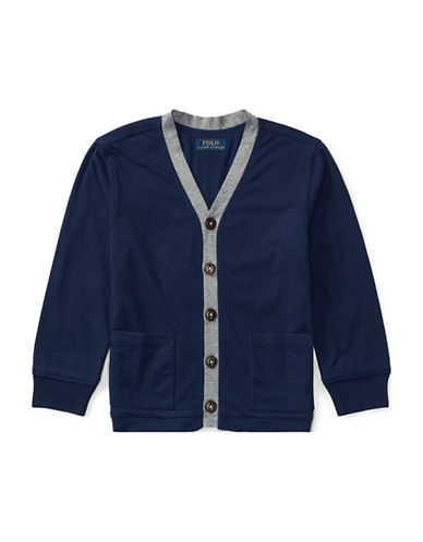 Ralph Lauren Childrenswear Loft Jersey Cardigan-BLUE-6