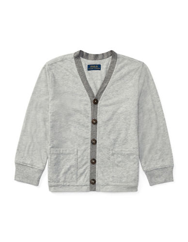 Ralph Lauren Childrenswear Loft Jersey Cardigan-GREY-7