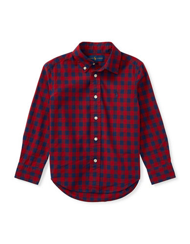 Ralph Lauren Childrenswear Checked Cotton Sport Shirt-RED-7