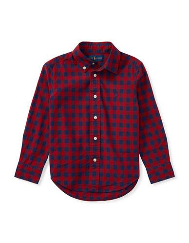 Ralph Lauren Childrenswear Checked Cotton Sport Shirt-RED-6