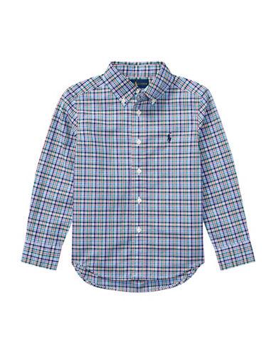 Ralph Lauren Childrenswear Plaid Cotton Poplin Shirt-BLUE-6