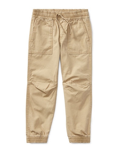 Ralph Lauren Childrenswear Cotton Ripstop Joggers-BEIGE-7