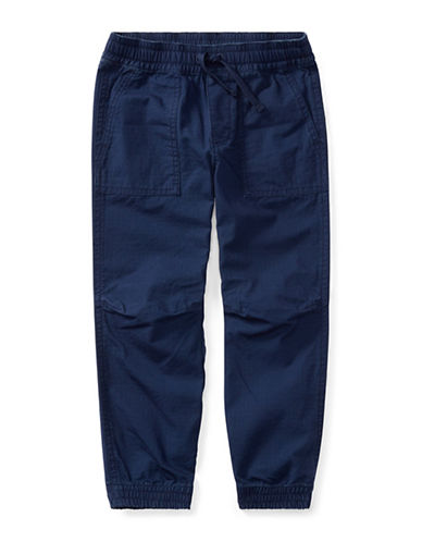 Ralph Lauren Childrenswear Cotton Ripstop Joggers-BLUE-6