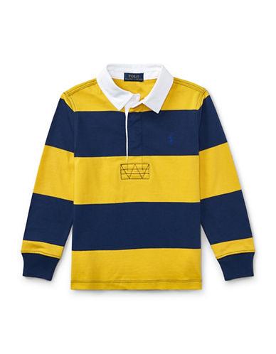 Ralph Lauren Childrenswear Striped Cotton Rugby Shirt-YELLOW-7