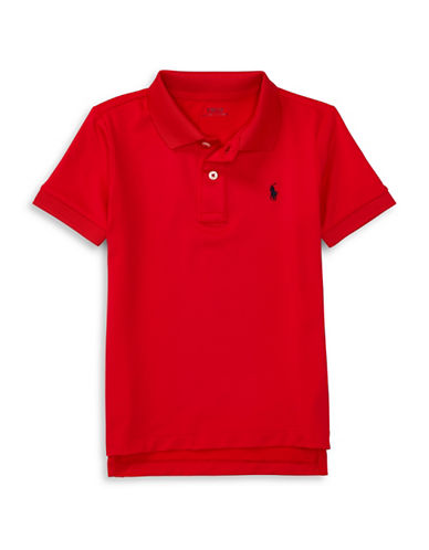 Ralph Lauren Childrenswear Lisle Short Sleeve Polo-RED-Small