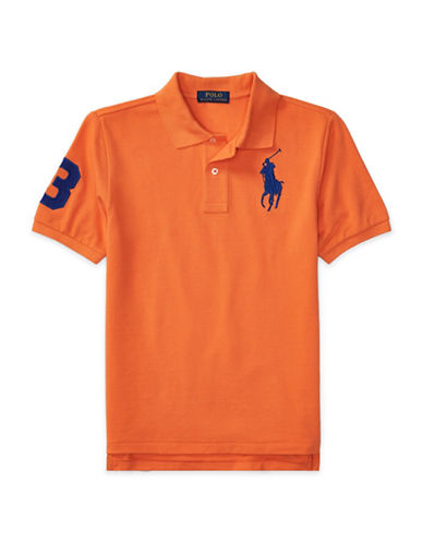 Ralph Lauren Childrenswear Cotton Mesh Polo-ORANGE-X-Large