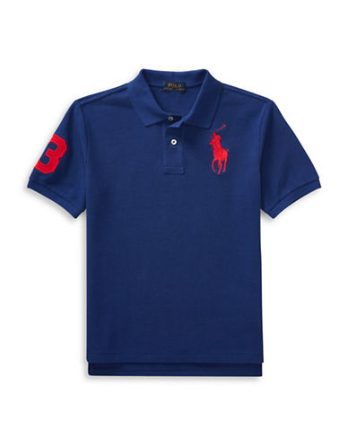 Ralph Lauren Childrenswear Cotton Mesh Polo-BLUE-Small