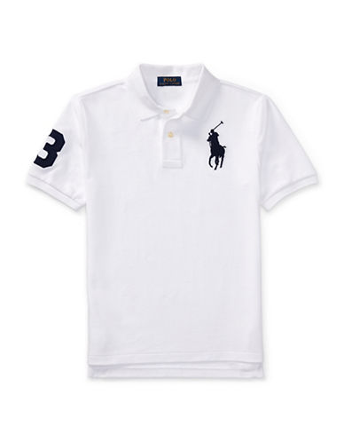 Ralph Lauren Childrenswear Cotton Mesh Polo-WHITE-Large