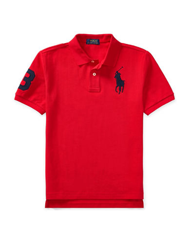 Ralph Lauren Childrenswear Cotton Mesh Polo-RED-X-Large