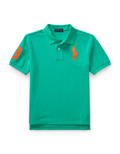 Ralph Lauren Childrenswear Cotton Mesh Polo-GREEN-X-Large