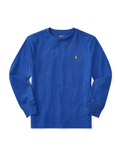 Ralph Lauren Childrenswear Long-Sleeve Cotton Jersey T-Shirt-BLUE-Large